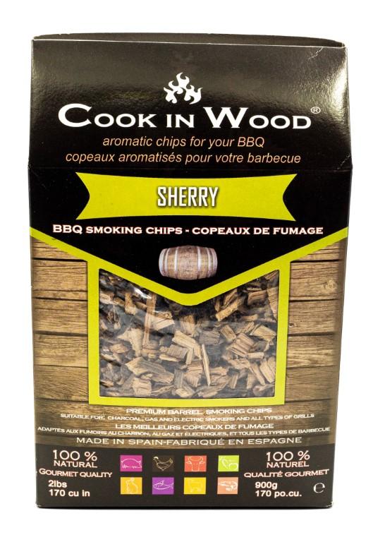 COOKINWOOD 900gr SHERRY SMOKING CHIPS