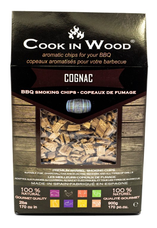 COOKINWOOD 900gr COGNAC SMOKING CHIPS