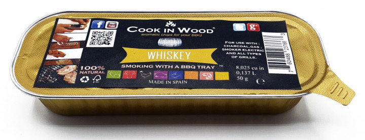 COOKINWOOD 50gr IN ALUMINIUM TRAY WISKEY SMOKING CHIPS