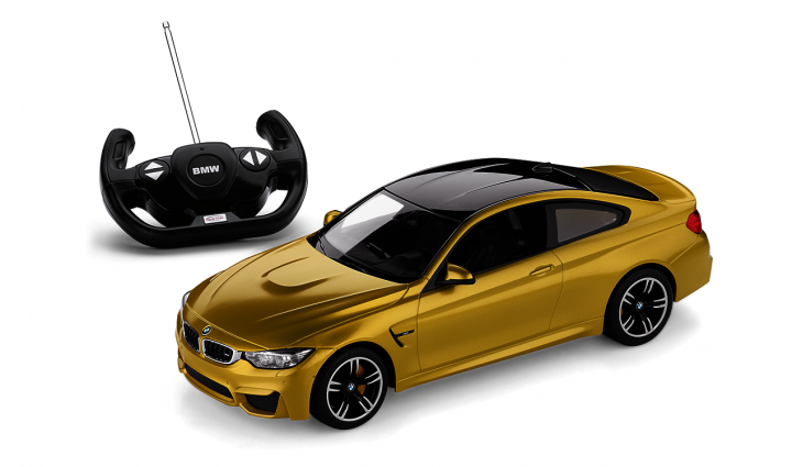 BMW toy car RC miniature M4 Coupe - Yellow