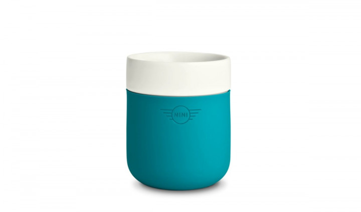 MINI cup color dip - White / Aqua