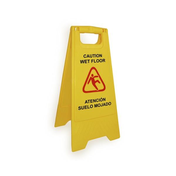 Safety Warning Sign Πινακίδα προειδοποιήσεως βρεγμένου δαπέδου - Κίτρινο, μαύρο και κόκκινο - 62X20X29.5cm