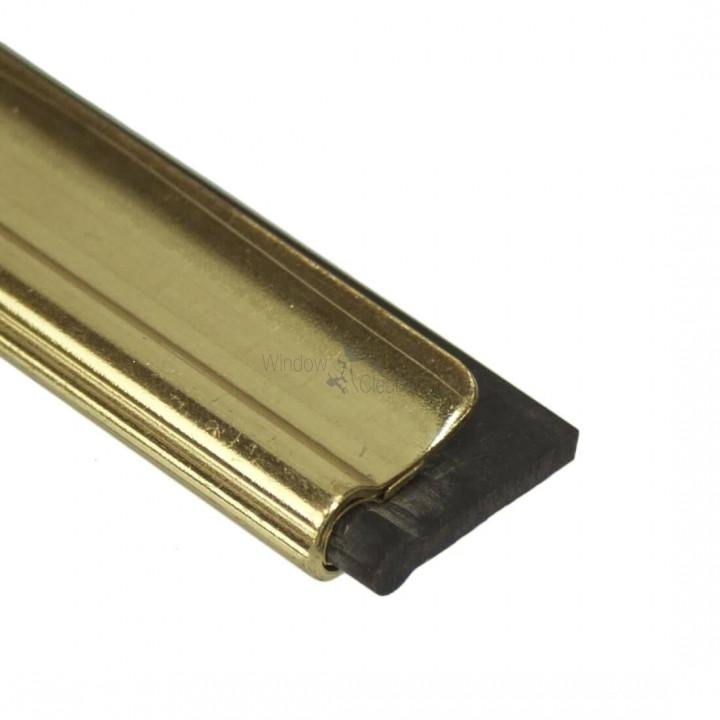 "Master Brass Channel with Rubber 14""  /  ΡΑΓΑ ΟΡΕΙΧΑΛΚΙΝΗ 35cm ETTORE                                                                                - Golden  - 35 cm"