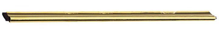 "Master Brass Channel with Rubber 18"" by  Ettore U.S.A  ΡΑΓΑ ΟΡΕΙΧΑΛΚΙΝΗ 45cm ETTORE                                                             - Golden  - 45 cm"