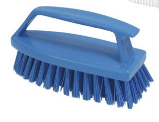 Hand Gripy Brush I. A. Medium Fiber - Blue