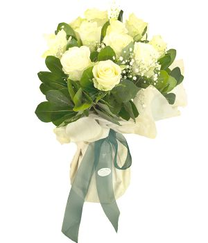 White Roses Bouquet