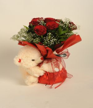 Bouquet with Teddy