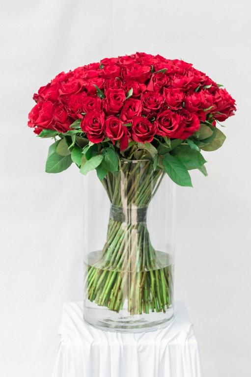LARGE ROMANCE - RED ROSE - 65x 50cm