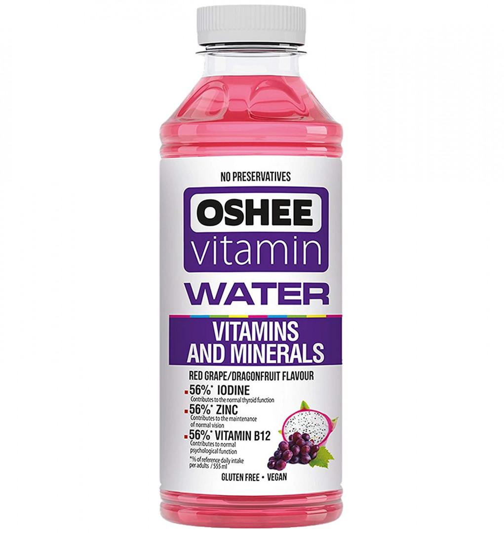 Oshee vitamin water 555ml - Red Grape Dragon fruit