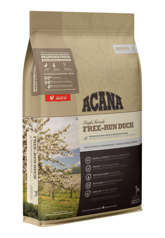 ACANA Singles   Free Run Duck  (All Stages) 11.4kg