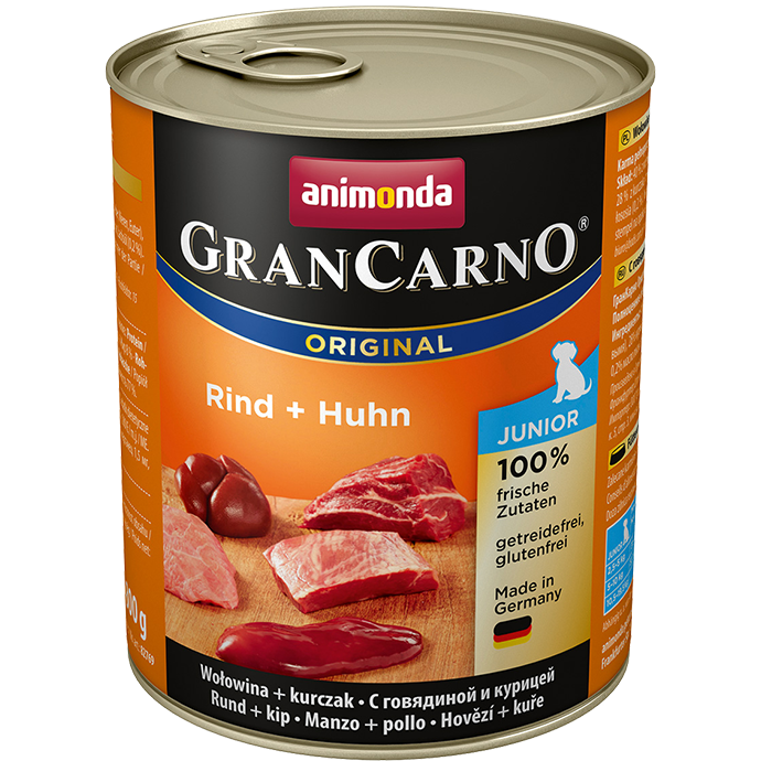 ANIMONDA Gran Carno Junior Beef and Turkey Hearts 800g