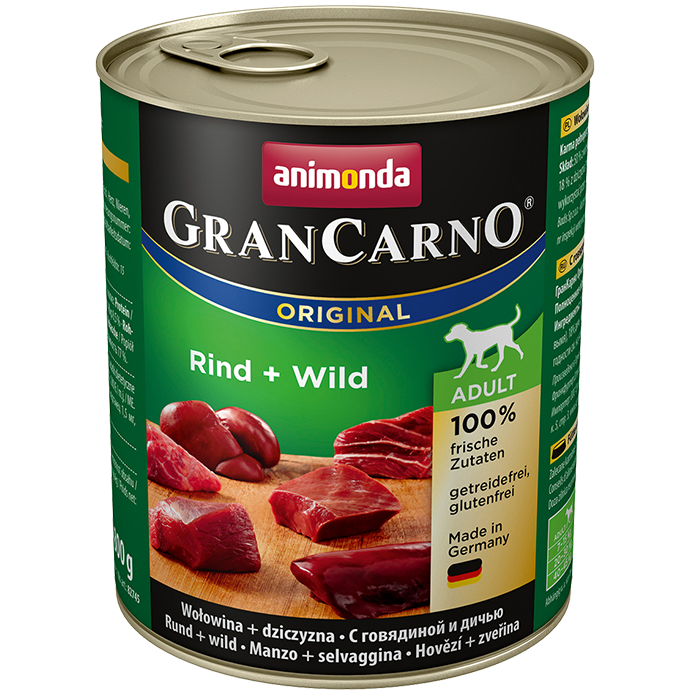 ANIMONDA Gran Carno Adult Beef and Game 800g