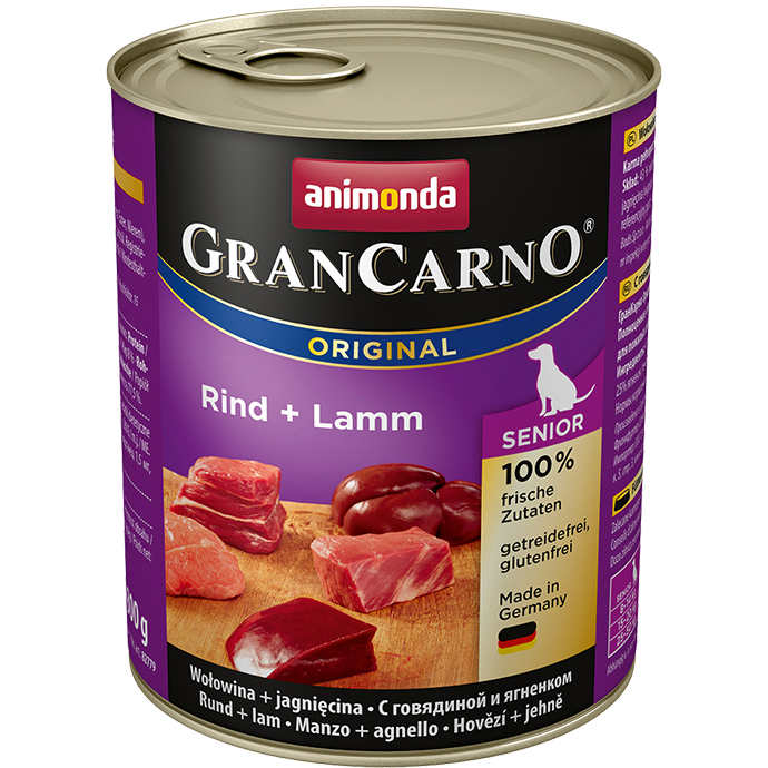 ANIMONDA Gran Carno Senior Beef and Lamb 800g