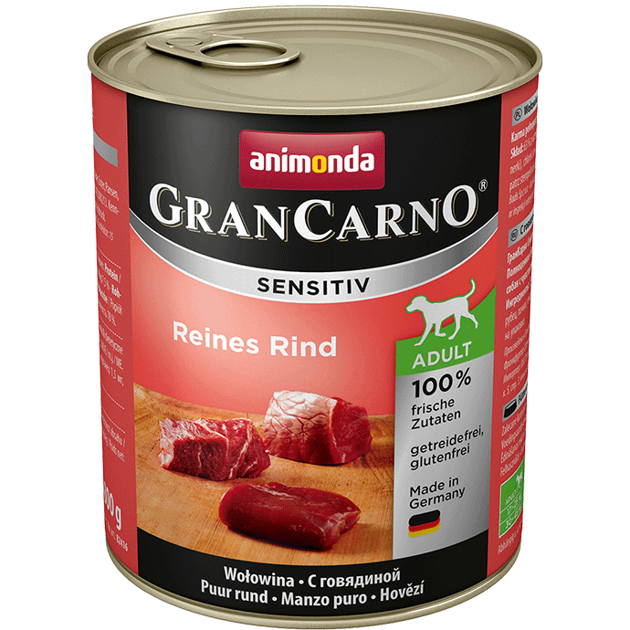 ANIMONDA Gran Carno Sensitive Pure Beef 800g