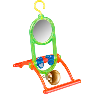 Budgie Toy Mirror Bell