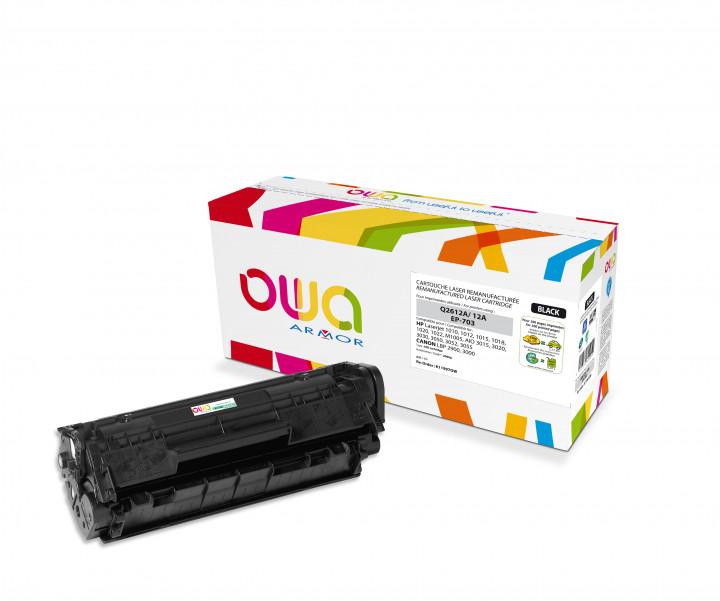 Owa Armor - HP 12A (Q2612A) Compatible Laser Toner 2000pages Black toner Catridge