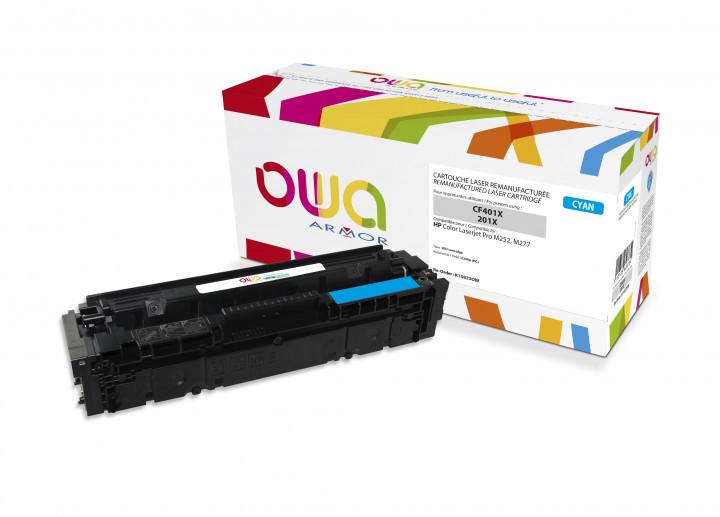 Owa Armor - HP 201X (CF401X) Compatible Laser Toner 2300pages Cyan toner Catridge
