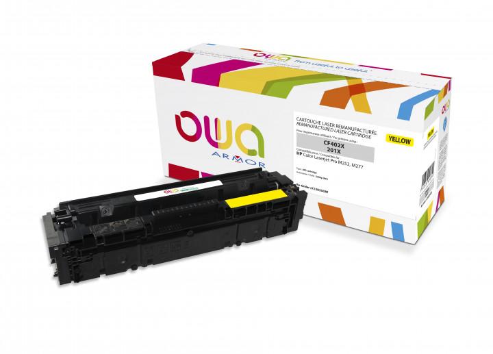 Owa Armor - HP 201X (CF402X) Compatible Laser Toner 2300pages Yellow toner Catridge
