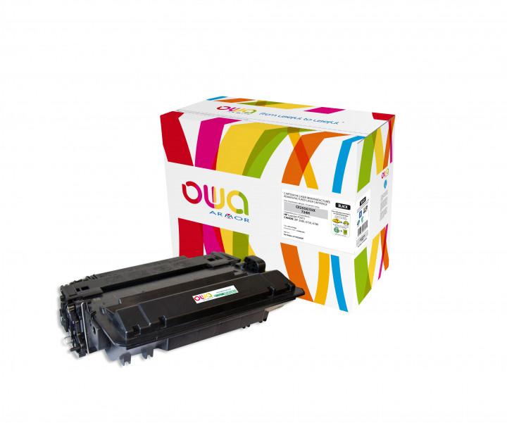 Owa Armor - HP 55X (CE255X)  Compatible Laser Toner 12500pages Black toner Catridge