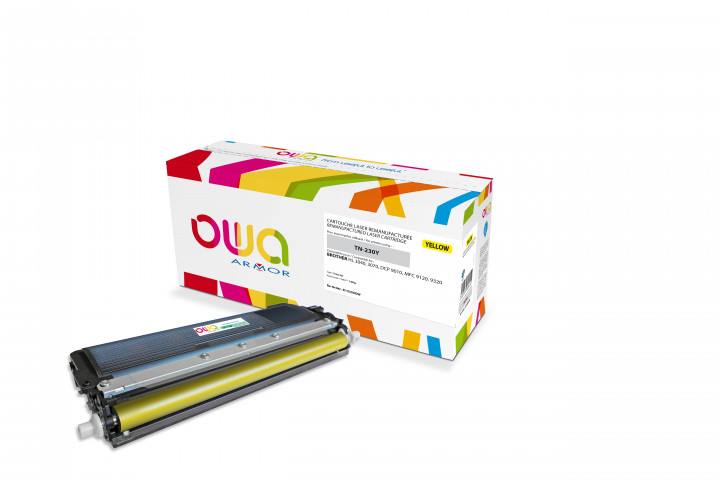 Owa Armor - BROTHER TN-230Y Compatible Laser Toner 1400pages Yellow toner Catridge