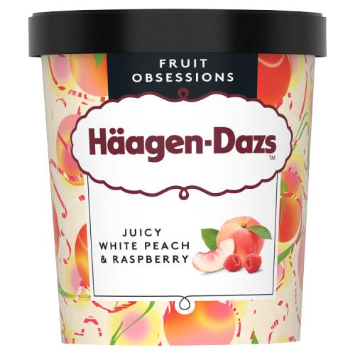 Haagen Dazs Juicy White Peach and Raspberry 460ml