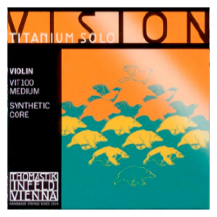 Thomastik Vision Titanium Solo Violin Strings Set - Medium Tension - Size 4/4