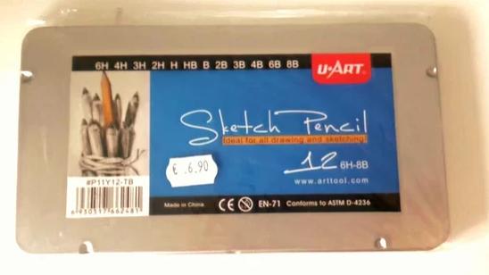 12 Sketch Pencils (6H - 8B) u-Art
