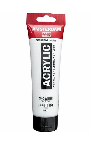 Amsterdam Acrylic Paint 120ml Zinc White 104