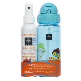 Apivita Kids Protection Face & Body Spray SPF 50 + Kids Water Bottle