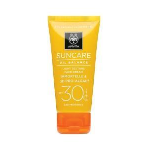 Apivita Oil Balance Light Texture Face Cream SPF 30 - High Protection