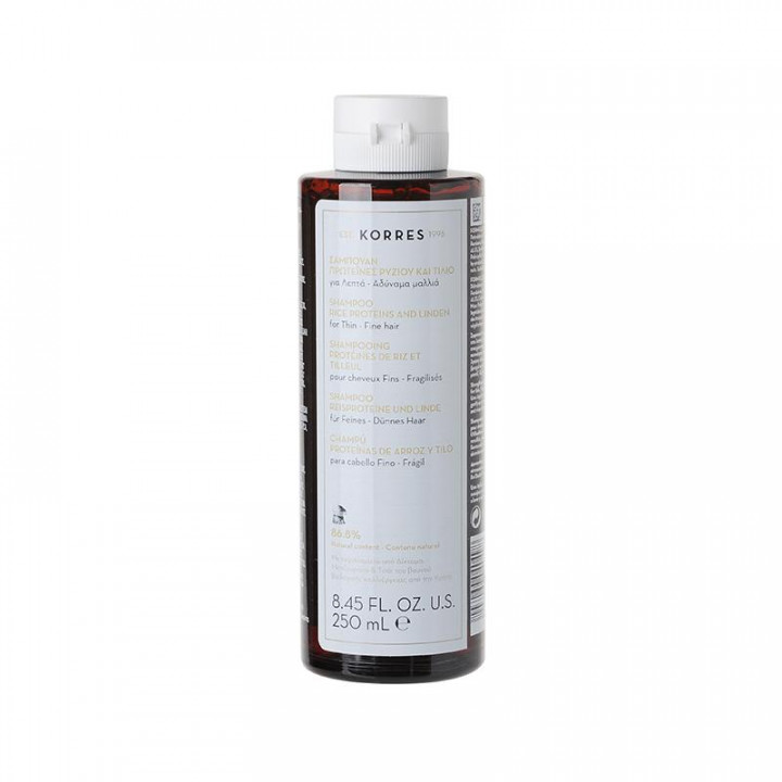 Korres Rice Proteins & Linden Shampoo for Thin / Fine Hair 250ml
