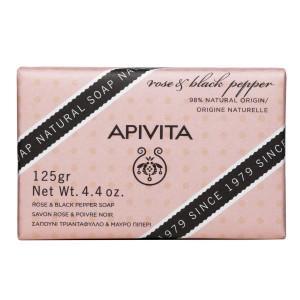Apivita Natural Soap with Rose & Black Pepper