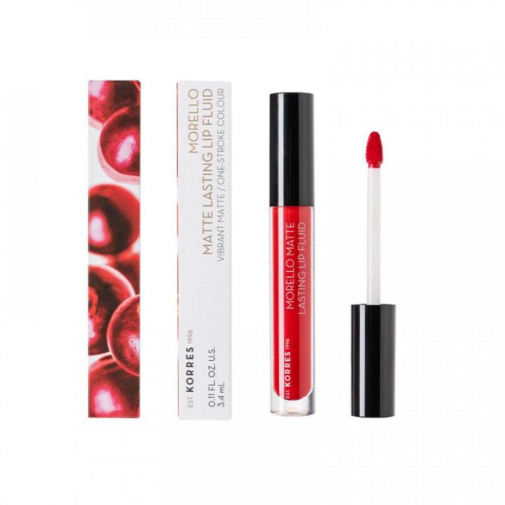 Korres Morello Matte Lasting Lip Fluid - 53 Red Velvet