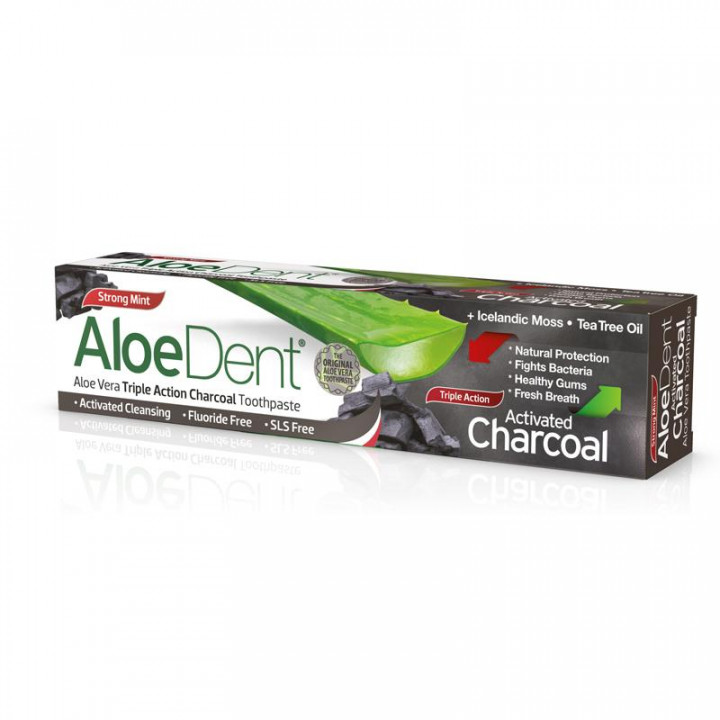 ALOEDENT - TRIPLE ACTION CHARCOAL TOOTHPASTE
