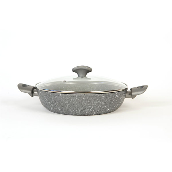 Mineralia 2 Handle Sauteuse Pan with Glass Lid 28cm