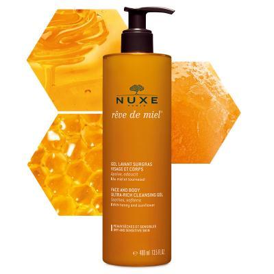 Nuxe Face & Body Ultra-Rich Cleasing Gel Reve De Miel 400ml