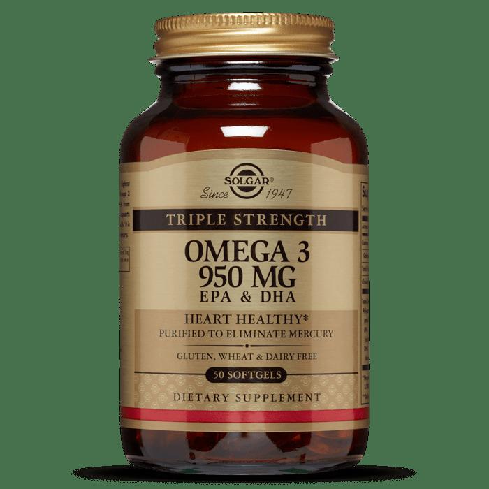 Solgar Triple Strength Omega-3, 950mg, 50 Softgels