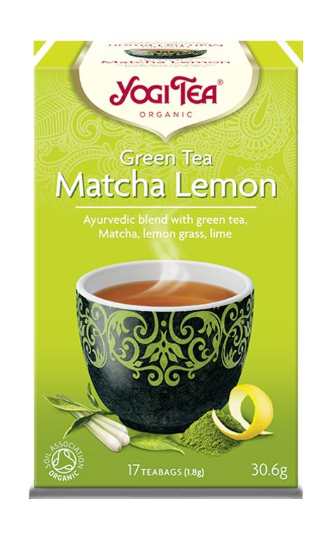 YOGI TEA GREEN TEA MATCHA LEMON 30.6g/ 17 TEABAGS