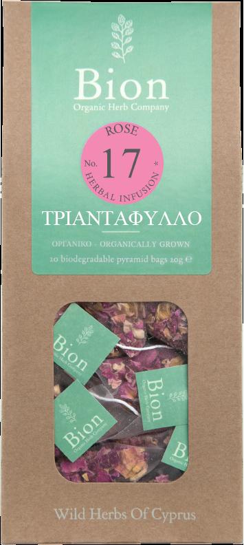 BION ROSE TEA 22.5g/ 15 biodegradable pyramid bags