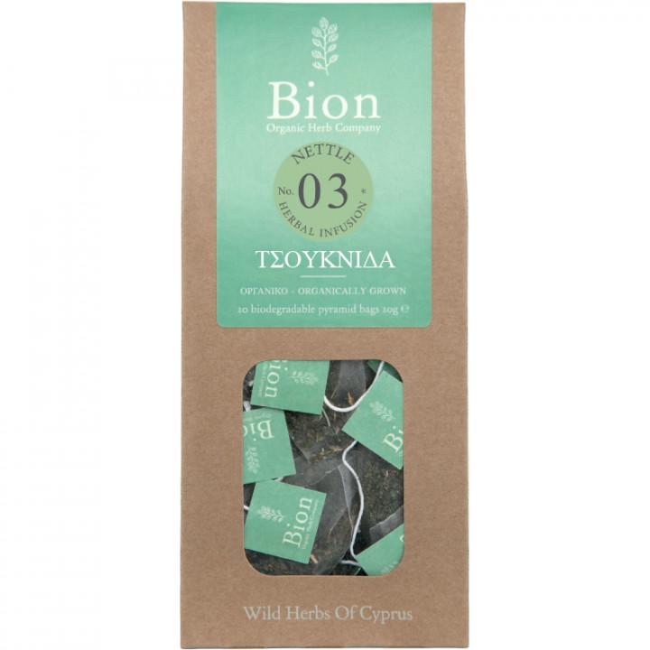 BION NETTLE TEA 20g/ 20 biodegradable pyramid bags