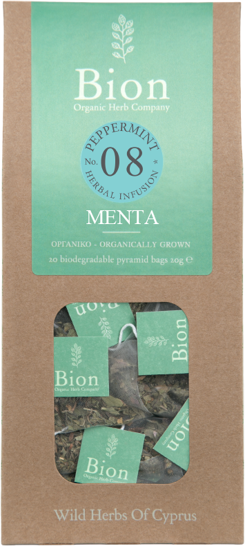 BION PEPPERMINT TEA 20g/ 20 biodegradable pyramid bags