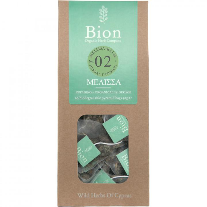 BION MELISSA-BALM TEA 20g/ 20 biodegradable pyramid bags