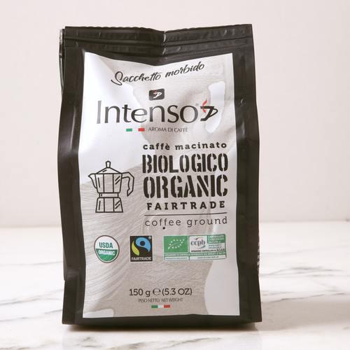 INTENSO ORGANIC FAIRTRADE COFFEE GROUND 150g