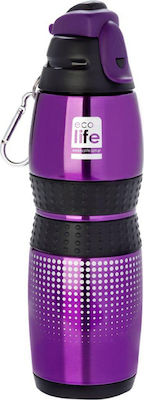 ECOLIFE VACUUM SPORTS BOTTLE 400ML - PURPLE