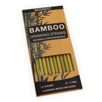 LMCG 12 BAMBOO DRINKING STRAWS