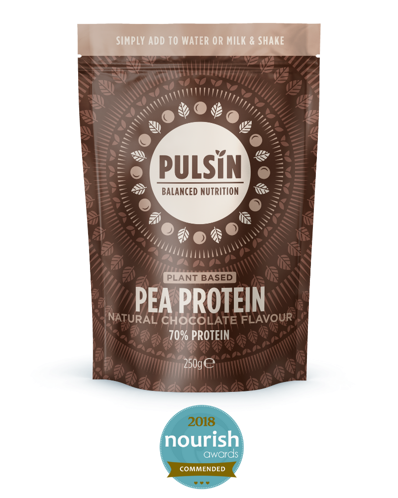 PULSIN - PEA PROTEIN WITH NATURAL CHOCOLATE FLAVOUR 70% PROTEIN 250g