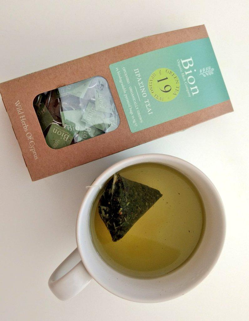 BION GREEN TEA LEMON 22.5g/ 15 biodegradable pyramid bags