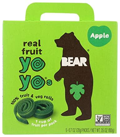 BEAR - APPLE YO YOs - 10 FRUIT ROLLS (5 packs)