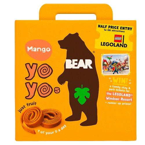 BEAR - MANGO YO YOs - 10 FRUIT ROLLS (5 PACKS)