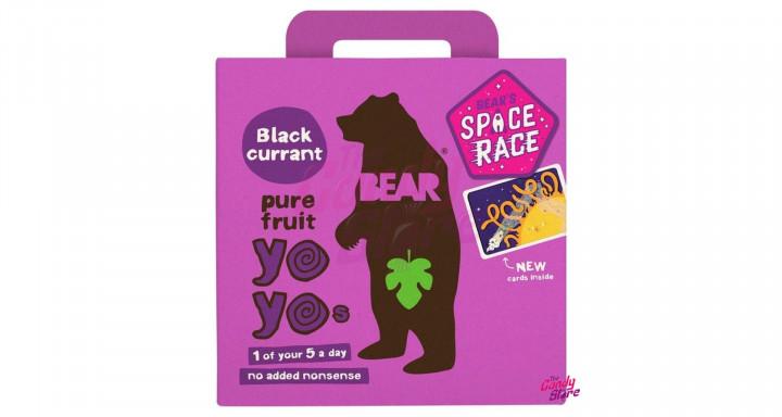 BEAR - BLACKCURRANT YO YOs - 10 FRUIT ROLLS (5 PACKS)